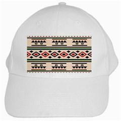 Tribal Pattern White Cap