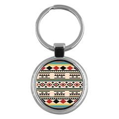 Tribal Pattern Key Chains (Round)