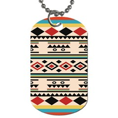 Tribal Pattern Dog Tag (One Side)