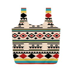 Tribal Pattern Full Print Recycle Bags (M)