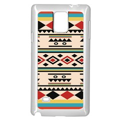 Tribal Pattern Samsung Galaxy Note 4 Case (White)