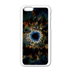 Crazy Giant Galaxy Nebula Apple iPhone 6/6S White Enamel Case