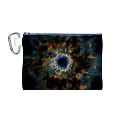 Crazy Giant Galaxy Nebula Canvas Cosmetic Bag (M)