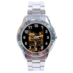 Drink Good Whiskey Stainless Steel Analogue Watch