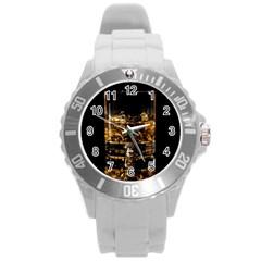 Drink Good Whiskey Round Plastic Sport Watch (L)