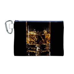 Drink Good Whiskey Canvas Cosmetic Bag (M)