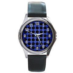CIR1 BK-MRBL BL-BRSH (R) Round Metal Watch