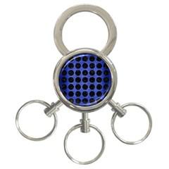 CIR1 BK-MRBL BL-BRSH (R) 3-Ring Key Chains