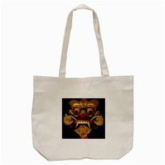 Bali Mask Tote Bag (Cream)
