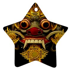 Bali Mask Star Ornament (Two Sides)