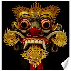 Bali Mask Canvas 16  x 16