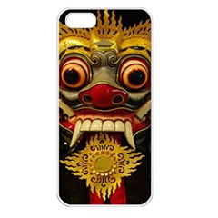Bali Mask Apple iPhone 5 Seamless Case (White)