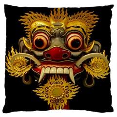Bali Mask Large Flano Cushion Case (Two Sides)