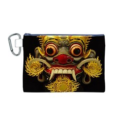 Bali Mask Canvas Cosmetic Bag (M)