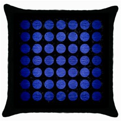 CIR1 BK-MRBL BL-BRSH Throw Pillow Case (Black)