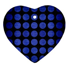CIR1 BK-MRBL BL-BRSH Heart Ornament (Two Sides)