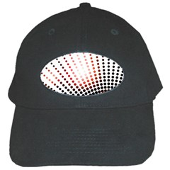 Radial Dotted Lights Black Cap