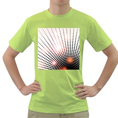 Radial Dotted Lights Green T-Shirt