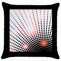 Radial Dotted Lights Throw Pillow Case (Black)