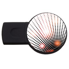 Radial Dotted Lights USB Flash Drive Round (2 GB)