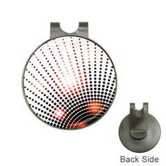 Radial Dotted Lights Hat Clips with Golf Markers