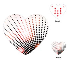Radial Dotted Lights Playing Cards (Heart)