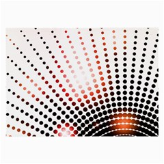 Radial Dotted Lights Large Glasses Cloth