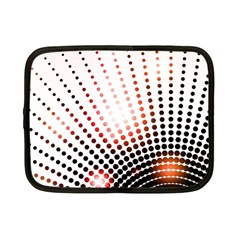 Radial Dotted Lights Netbook Case (Small)
