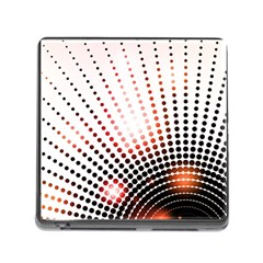 Radial Dotted Lights Memory Card Reader (Square)