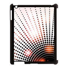 Radial Dotted Lights Apple iPad 3/4 Case (Black)