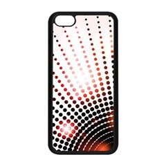 Radial Dotted Lights Apple iPhone 5C Seamless Case (Black)