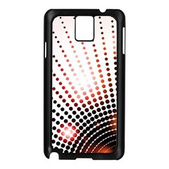 Radial Dotted Lights Samsung Galaxy Note 3 N9005 Case (Black)
