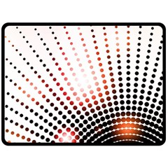 Radial Dotted Lights Double Sided Fleece Blanket (Large)