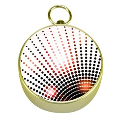 Radial Dotted Lights Gold Compasses
