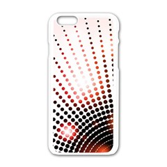 Radial Dotted Lights Apple iPhone 6/6S White Enamel Case