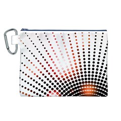 Radial Dotted Lights Canvas Cosmetic Bag (L)
