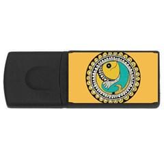 Madhubani Fish Indian Ethnic Pattern USB Flash Drive Rectangular (2 GB)