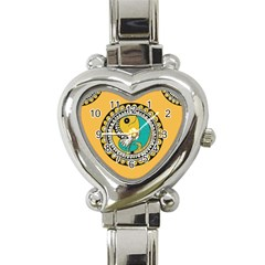 Madhubani Fish Indian Ethnic Pattern Heart Italian Charm Watch