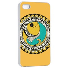Madhubani Fish Indian Ethnic Pattern Apple iPhone 4/4s Seamless Case (White)