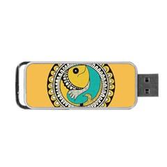 Madhubani Fish Indian Ethnic Pattern Portable USB Flash (One Side)