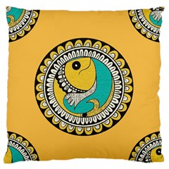 Madhubani Fish Indian Ethnic Pattern Standard Flano Cushion Case (One Side)