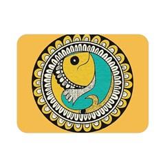 Madhubani Fish Indian Ethnic Pattern Double Sided Flano Blanket (Mini)
