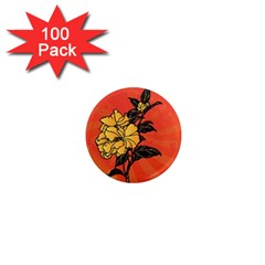 Vector Asian Flowers 1  Mini Magnets (100 pack)