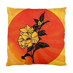 Vector Asian Flowers Standard Cushion Case (Two Sides)