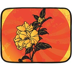 Vector Asian Flowers Double Sided Fleece Blanket (Mini)