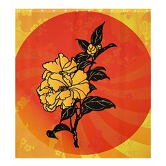 Vector Asian Flowers Shower Curtain 66  x 72  (Large)