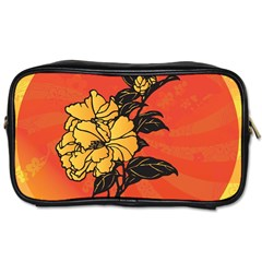 Vector Asian Flowers Toiletries Bags