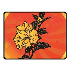Vector Asian Flowers Fleece Blanket (Small)