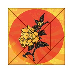 Vector Asian Flowers Acrylic Tangram Puzzle (6  x 6 )