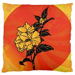 Vector Asian Flowers Large Cushion Case (Two Sides)
